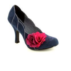 Ruby Shoo Heeled Shoes - Navy multi - 08897/70 APRIL