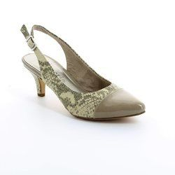 Tamaris Heeled Shoes - TAUPE MULTI SUEDE - 29602/916 LEXIA