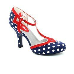 Ruby Shoo Heeled Shoes - Navy multi - 08899/77 HATTY