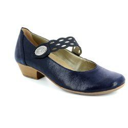 Remonte Heeled Shoes - Navy patent-suede - D7345-14 MILLSTRA