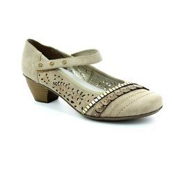 Rieker Heeled Shoes - Light taupe - 47664-42 SINASH