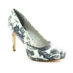 Tamaris Heeled Shoes - Floral print - 22446/160 KURTSY