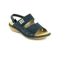 Rieker Sandals - Navy nubuck - 65992-14 TITLE  61