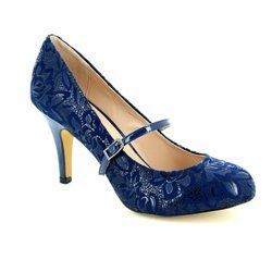 Lotus Heeled Shoes - Navy - 50670/70 FUZINA