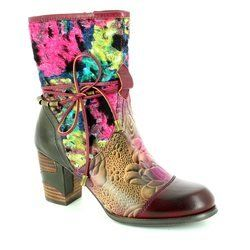 Laura Vita Boots - Short - Purple multi - 2003/80 ANNA 03 VIOLET