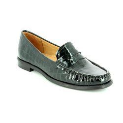 Ambition Loafer / Mocassin - Black croc - 16508/40 DONELLA