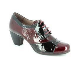 Wonders Heeled Shoes - Wine patent - 36113/80 LALECHE G36114
