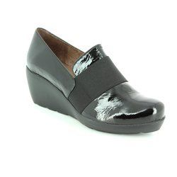 Wonders Heeled Shoes - Black patent - H2083/30 FLYER 62