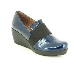 Wonders Heeled Shoes - Navy patent - H2083/70 FLYER 62