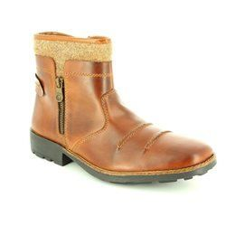 Rieker Boots - Brown - 36064-27 RONZIP