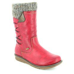 Remonte Boots - Long - Wine - R1094-35 ASTRISHCUF TEX