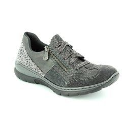Rieker Everyday Shoes - Black grey multi - L3223-00 MEMZI