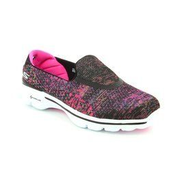 Skechers Trainers & Canvas - Black multi - 14057/259 GO WALK 3
