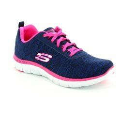 Skechers Trainers & Canvas - Navy-Pink - 12753/825 FLEX APPEAL 2