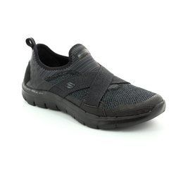 Skechers Trainers & Canvas - Black - 12752/007 NEW IMAGE