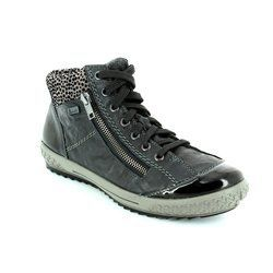 Rieker Boots - Short - Black - M6143-01 TINOTED TEX