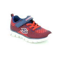 Skechers Boys 1st Shoes & Prewalkers - Navy-Red - 95092/189 MINI KNIT