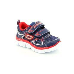 Skechers Boys 1st Shoes & Prewalkers - Navy-Red - 95096/189 MINI RUSH