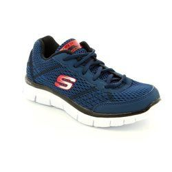 Skechers Boys Shoes - Navy-Red - 95527/189 MASTER QUEST