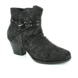 Lotus Boots - Short - Black fabric - 40313/30 PHILOX