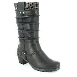 Rieker Boots - Long - Black - Y8080-01 GREEDILO
