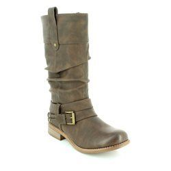 Rieker Boots - Long - Tan - 95678-25 PEEMID