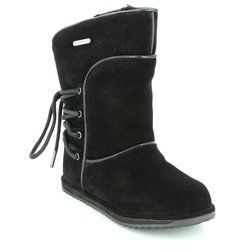 EMU Australia Girls Boots                   - Black suede - K11309/20 ISLAY KIDS