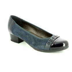 Alpina Pumps & Ballerinas - Navy patent-suede - 8234/2 GLORIA