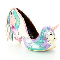 Irregular Choice Heeled Shoes - White multi - 3801-61A DREAMKISS