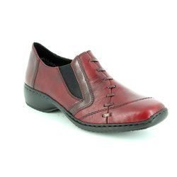 Rieker Everyday Shoes - Wine - L3874-35 DORWIST