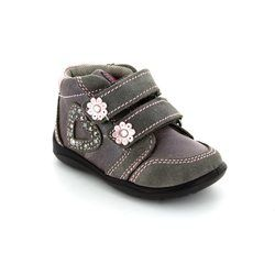 IMAC Girls 1st Shoes & Prewalkers - Grey muti - 64710/7087008 FLEUR HEART