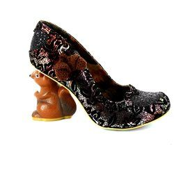 Irregular Choice Heeled Shoes - Black multi - 4301-02C NIBBLES MCNUTTY