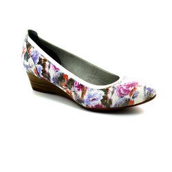 Tamaris Heeled Shoes - Floral print - 22304/124 QUIVER