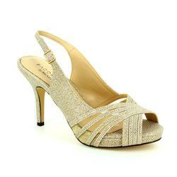 Menbur Heeled Shoes - Stone - 07538/87 SINGAPUR