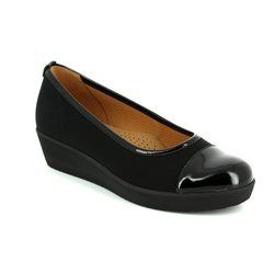 Gabor Heeled Shoes - Black patent - 46.471.87 WED