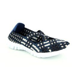Adesso Trainers & Canvas - Navy multi - A3728/70 MILA