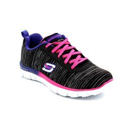 Skechers Girls Shoes - Black-Multi - 81834/695 GLITTER RUSH