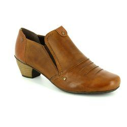 Rieker Heeled Shoes - Tan - 41702-22 SARTUCHE