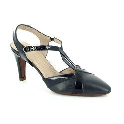 Wonders Heeled Shoes - Navy patent - M2037/70 DALIANCE