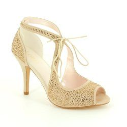 Lotus Heeled Shoes - Nude - 50719/50 VANILLE