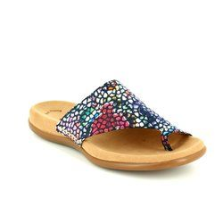 Gabor Sandals - Navy multi floral or fabric - 63.700.46 LANZEROTE