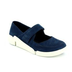 Clarks Everyday Shoes - Navy nubuck - 2416/74D TRI AMANDA