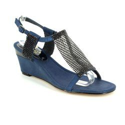 Lotus Heeled Shoes - Navy - 50790/70 KLAUDIA