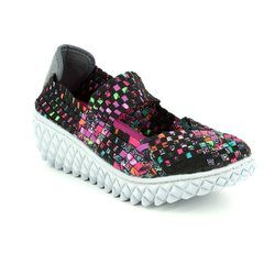 Adesso Trainers & Canvas - Black multi - A3771/30 NANCY