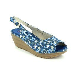 Heavenly Feet Sandals - Navy multi - 7006/70 CLEMATIS