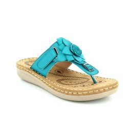 Heavenly Feet Sandals - Turquoise - 7007/70 DRIFTER