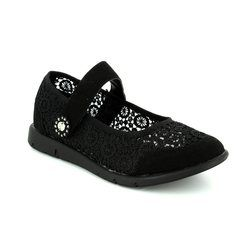 Heavenly Feet Trainers & Canvas - Black - 7012/30 ANGELIC