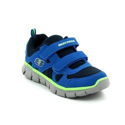 Skechers Boys 1st Shoes & Prewalkers - Blue-yellow - 99809/141 VIM LIL THRILL