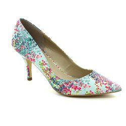 Lotus Heeled Shoes - Blue multi - 50732/90 BUCKWELL