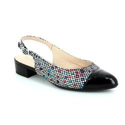 Alpina Heeled Shoes - Navy multi floral or fabric - 9J02/02 ELVIRA
